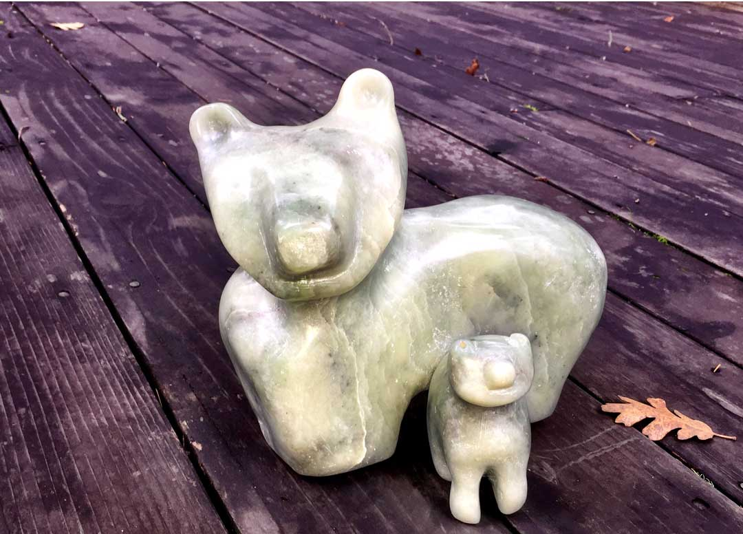 Bear With Cub Sculpture